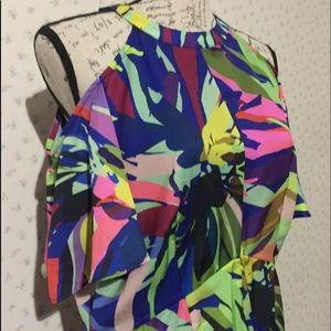 Gibson Latimer Maxi Cold Shoulder Dress